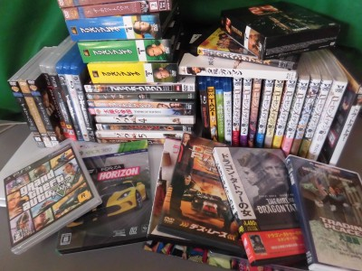 総社市で洋画DVDとゲームとローゼンメイデンの漫画買取