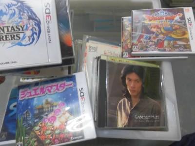 総社市で3DSのソフトや藤圭子LPなど買取させて頂きました。